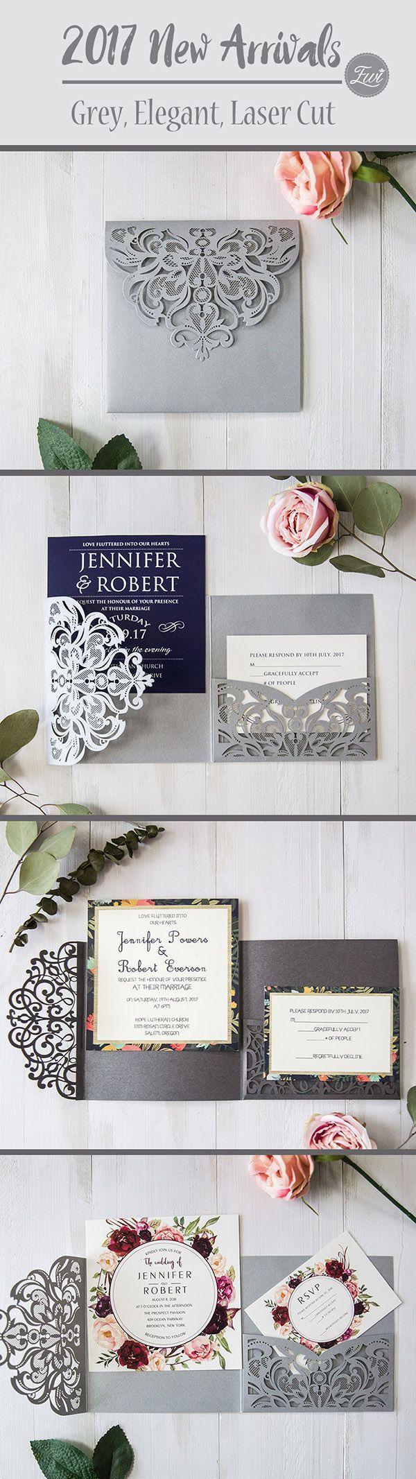 laser cut wedding invites canada%0A EWI      New Arrivalsgrey laser cut wedding invitations