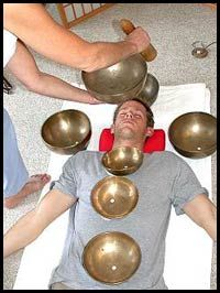 Tibetan Bowl sound healing ganta/dorjes and singing bowls. I've never tried this, I have played a Tibetan bowl but not this. Looks interesting.