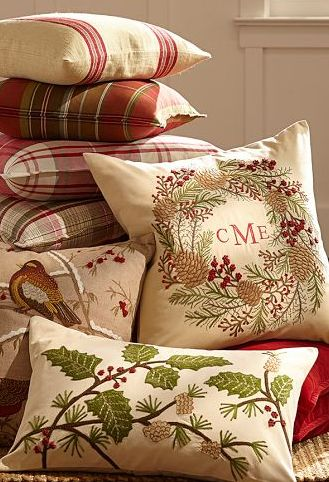 embroidered monogram pillow #xmas http://rstyle.me/n/d4vsnn2bn