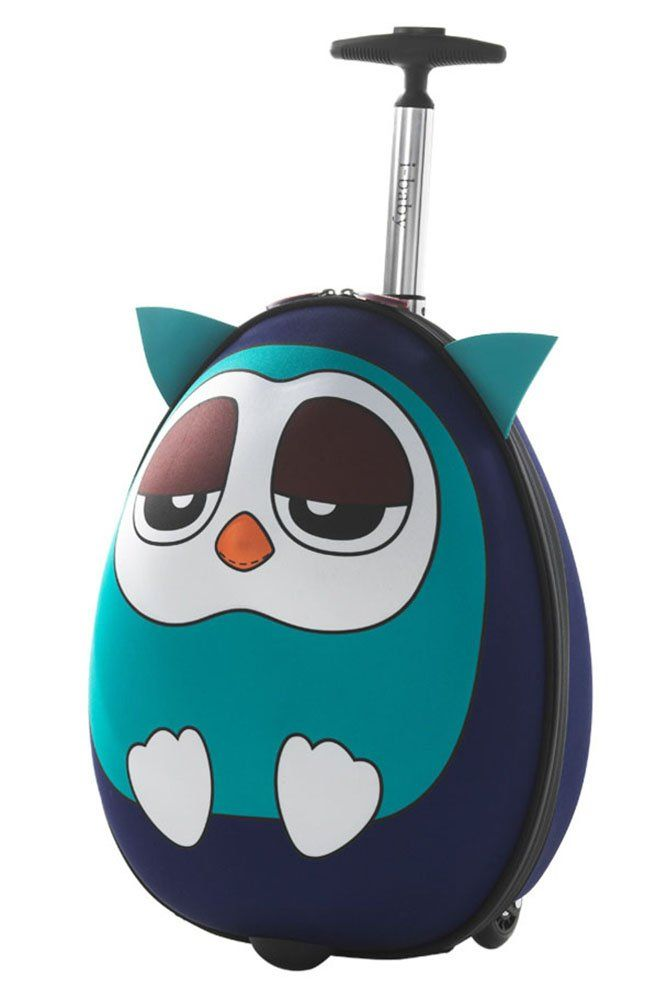 Ibaby Kids Luggage Carry On 18 Inch Upright Hard Side 3d Cartoon Face Owl Blue Read More At The Image Link This Kids Rolling Luggage Kids Luggage Luggage