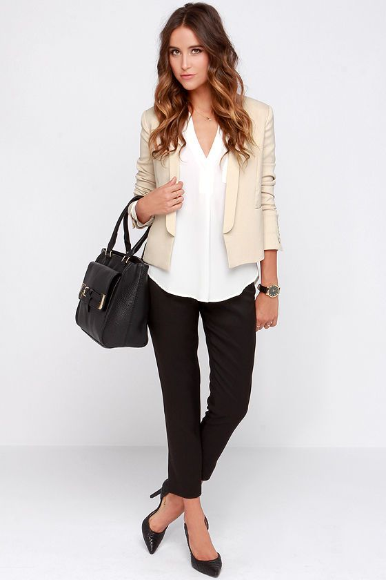 Best 25  Beige blazer ideas on Pinterest | Beige blazer outfit ...