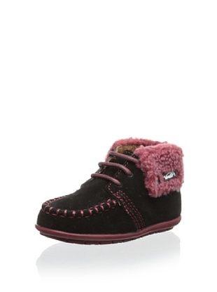 52% OFF Venettini Kid's Classy2 (Black Suede/Bordo Wool)