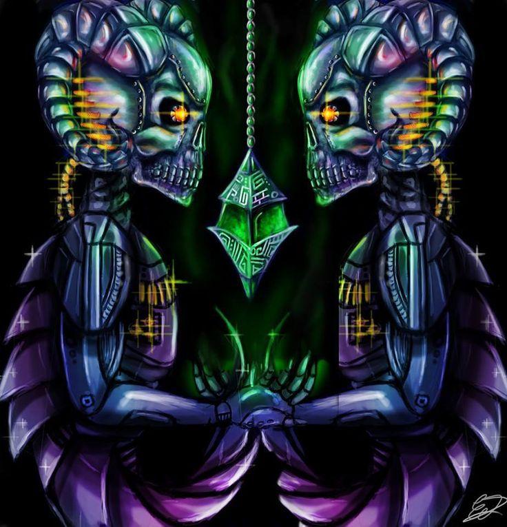 goth cyborg skull robot digital art photoshop