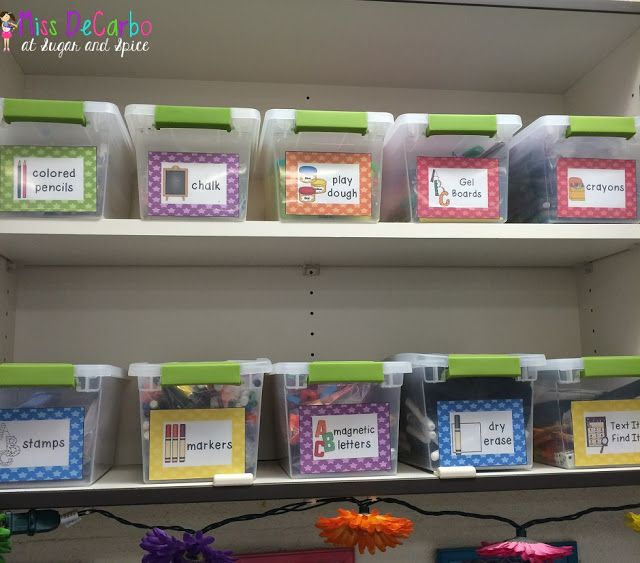 Word word bins - classroom organization, free labels