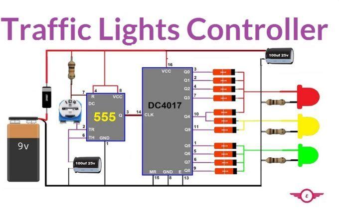 Envirementalb Com Electronic Circuit Projects Traffic Light Electronics Circuit