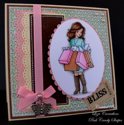 Pink Candy Stripes: Willow with Shopping Bags - Sneak Peek 3