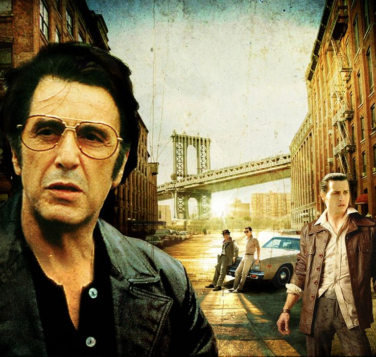 Donnie Brasco - awesome artwork featuring Al Pacino as Lefty and Johnny Depp as Donnie Brasco #GangsterMovie #GangsterFlick