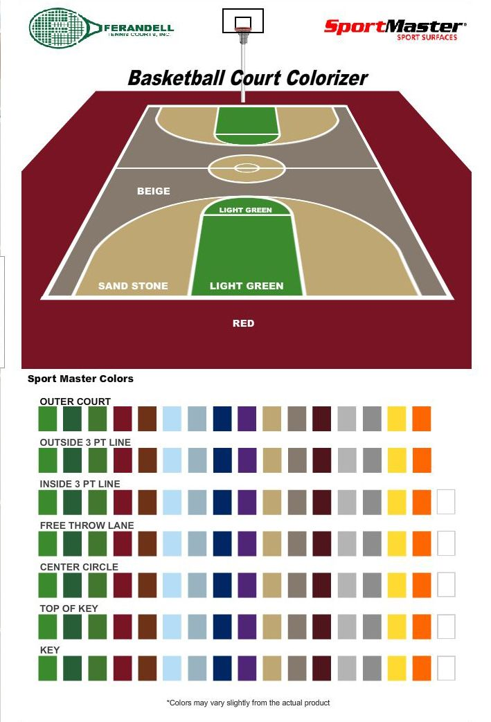 Real Time Online Tennis Court Colorizer Using Sport Master Paints Outdoor Basketball Court Basketball Court Backyard Indoor Basketball Court