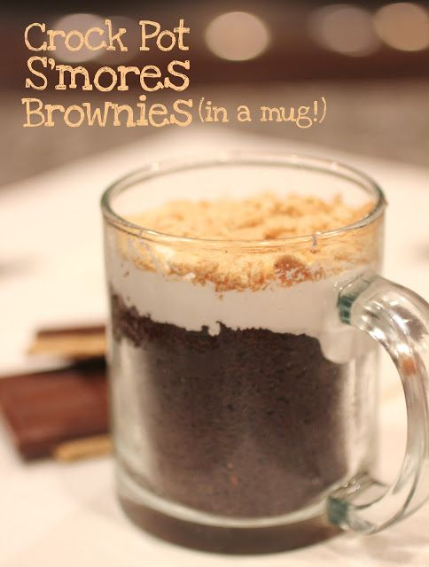 S'mores Brownies in a Mug #slowcooker