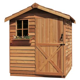 Cedarshed Gardener Gable Cedar Storage Shed (Common: 6-ft x 9-ft; Interior Dimensions: 5.33-ft x 8.62-ft)