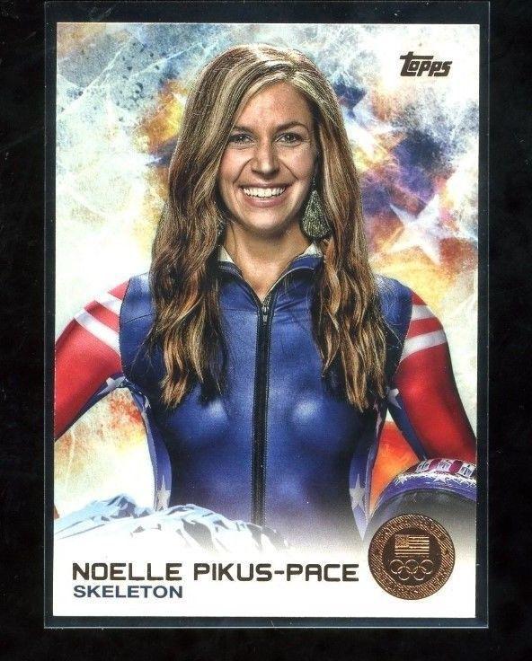 NOELLE PIKUS-PACE Topps Olympic card #68 Skeleton 2014  NM US Olympic TEAM NM