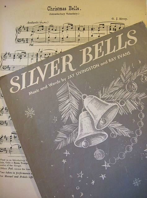 Silver Bells- I remember when my Momma used to play the piano for us on Christmas Eve. Oh, how we would sing! This was Grandma Wagner's favorite! Our copy looked just like this. I wonder if we still have it somewhere?