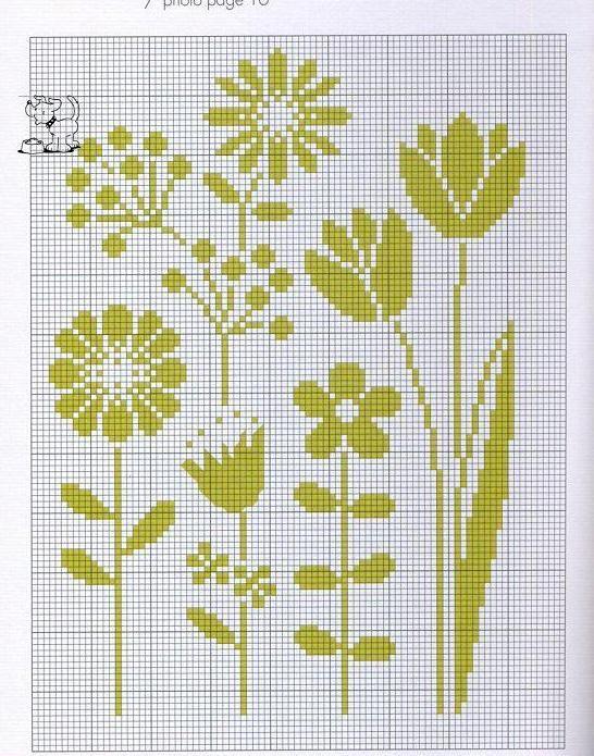 flowers cross stitch pattern