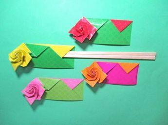 """簡単折り紙バラの箸袋の折り方作り方 創作 It rose chopstick origami <iframe src=""""//www.youtube.com/embed/NU1A8q8t8vc?feature=player_embedded"""" width=""""640"""" heigh..."""