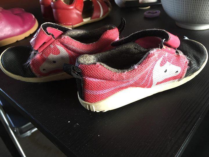 Secondhand bobux toddler shoes - $20 each Red eu 22  Pink boot eu 23 Pink sneaker eu 22 Unicorn sneaker eu 23 #rangloo, #bar, #accessories