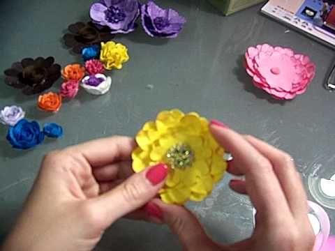 Cricut Flower Shoppe Flowers