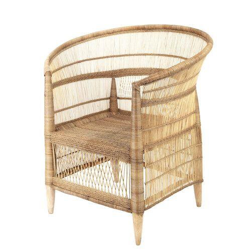 Dieser Von Hand Aus Bambus Und Rattan Gewebte Sessel Mit Hellem Holz  Verleiht Ihrem Wohnzimmer Ein Exotisches Ambiente. Jedes Stück Ist.