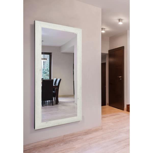American Made Rayne Antique White Washed Extra Large Wall/ Vanity Mirror