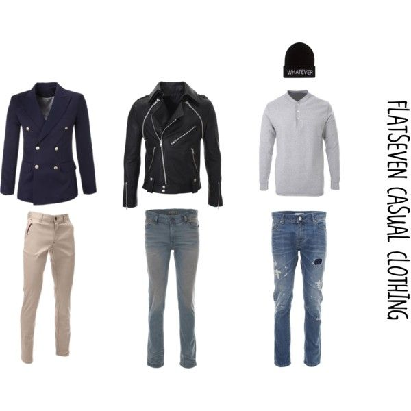 """""""FLATSEVEN CASUAL CLOTHING"""" by flatseven on Polyvore #flatseven #clothes #outfits #mensfashion"""