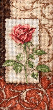 Counted Cross Stitch, Single Rose - pretty!