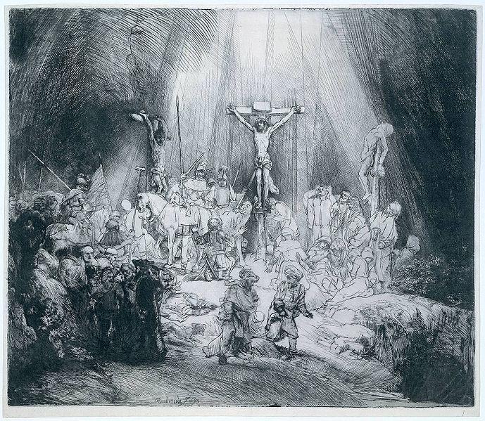 Rembrandt: the three crosses (as três cruzez).