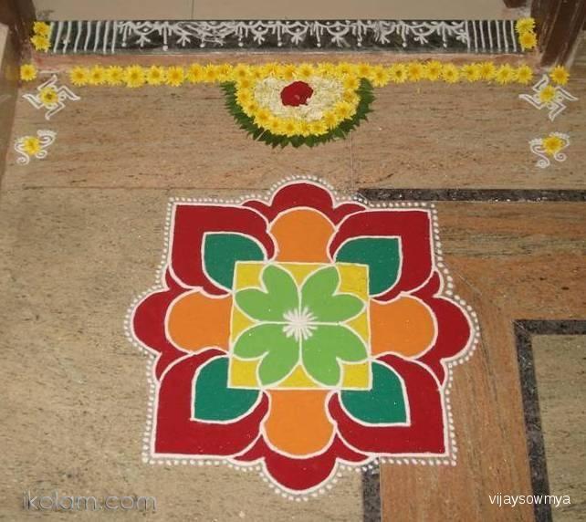Rangoli Diwali Rangoli-5 diwali 2012 | m.ikolam.com