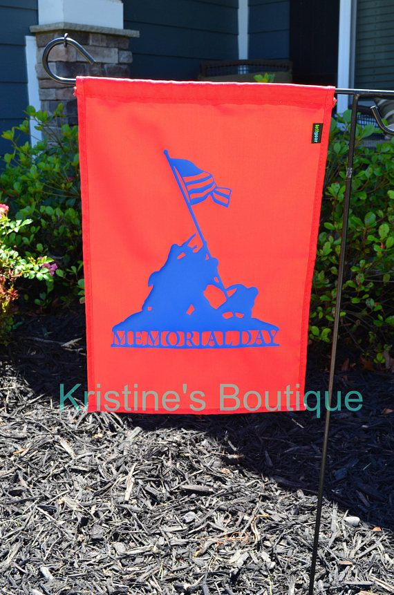 Garden Memorial Day Flag  Support our Troops  Small Flag