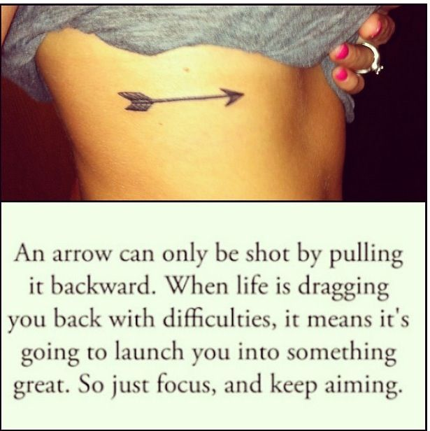 Arrow tattoo on my side. If I ever got a tattoo I'd want something along the line of this