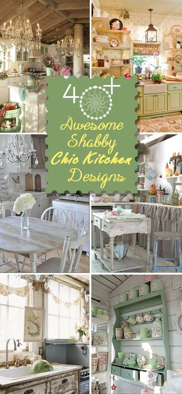 Awesome Shabby Chic Kitchen Designs.