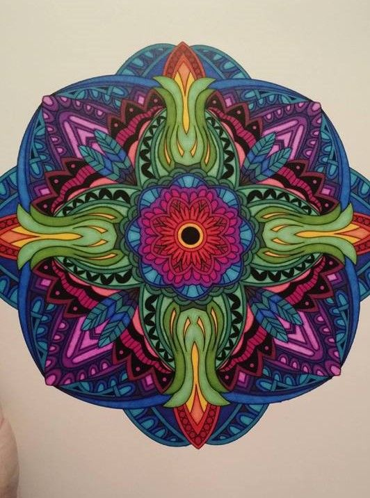 ColorIt Mandalas to Color Volume 1 Colorist: Cynthia Sikes #adultcoloring…