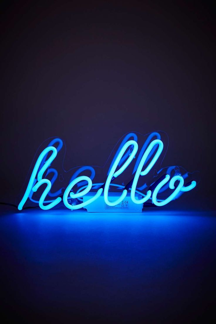 Neon Hello Light   Home & Gifts   Lighting   Novelty Lights   Urban Outfitters #UrbanOutfitters #UOEurope #UOonYou