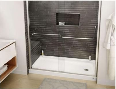 Two affordable porcelain-on-steel shower bases from Bootz – starting at $159 at Home Depot Posted by: pam kueber • February 3, 2016 - Retro Renovation