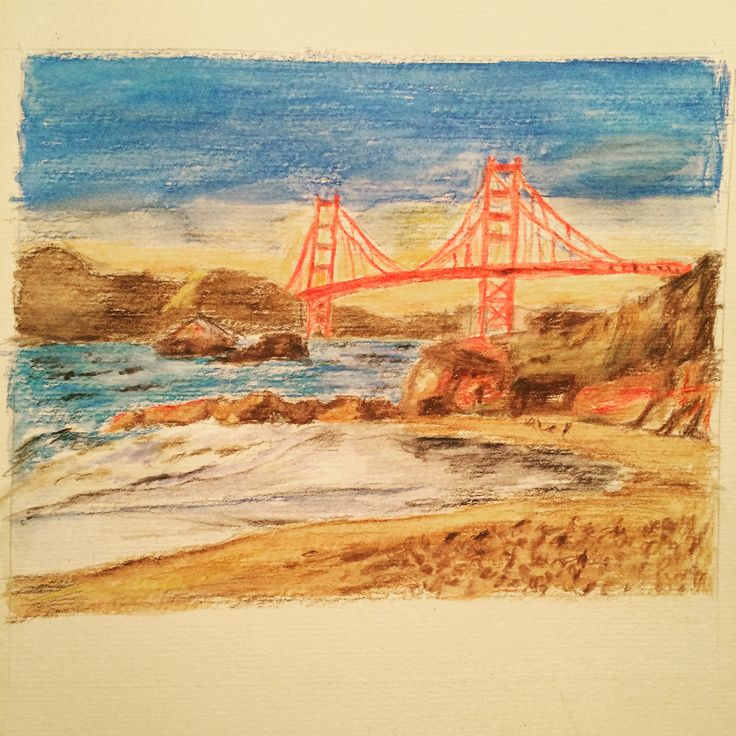Water colour pencil San Francisco