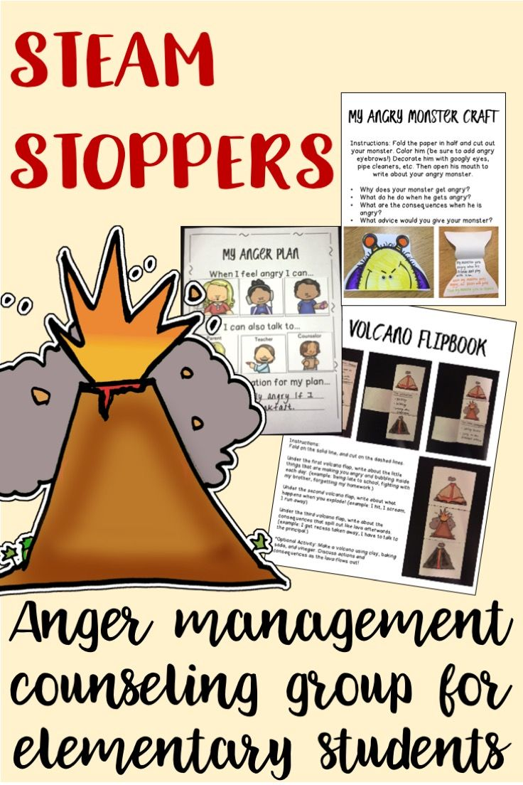 Anger worksheets for elementary students