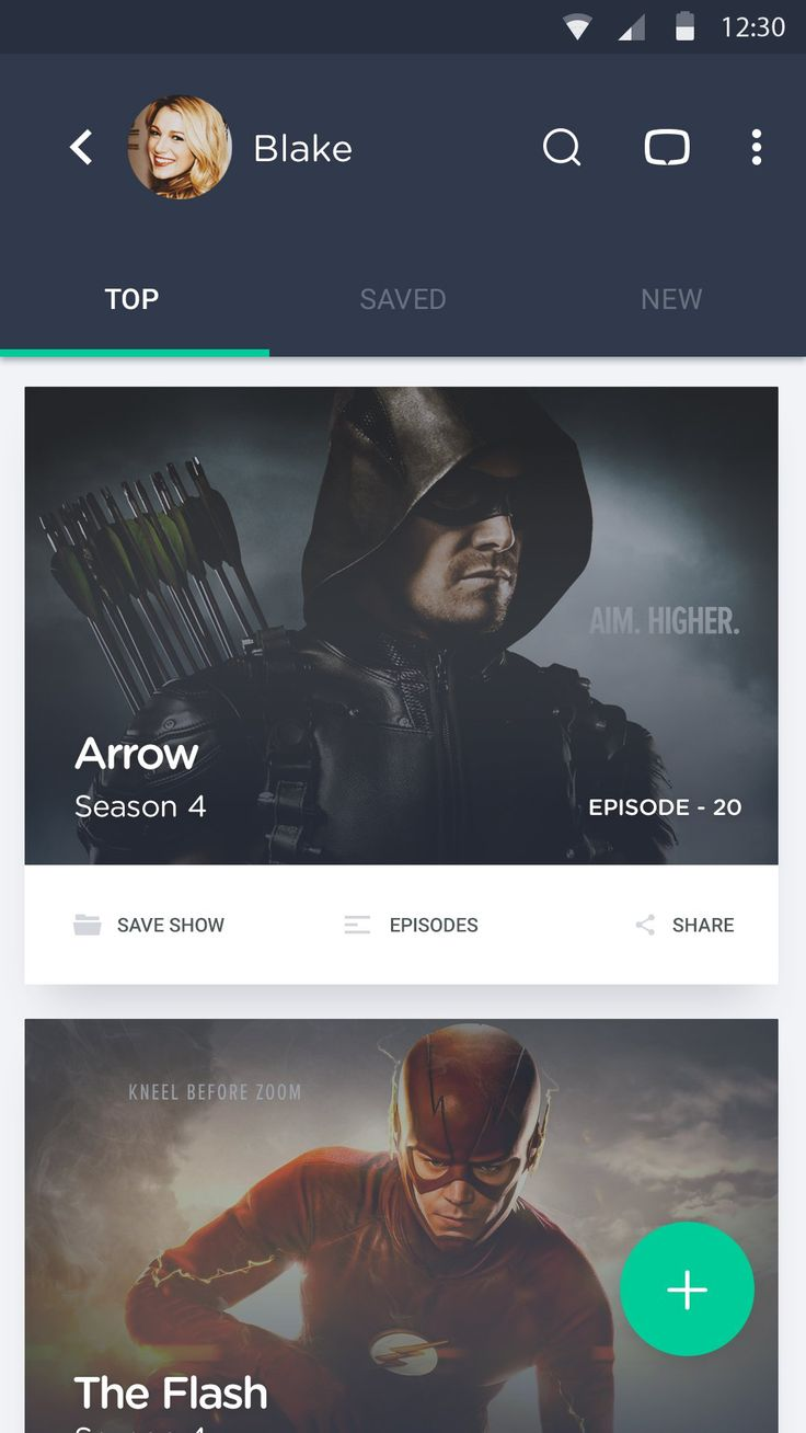 Tv Series Android App UI – MaterialUp