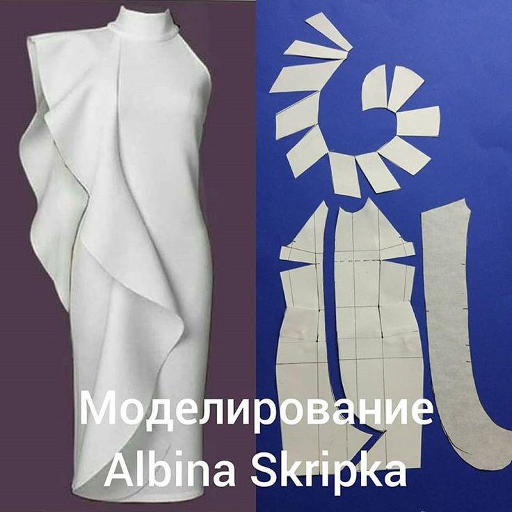 Думаю, что новогодний наряд должен быть достаточно простым и скромным. Никаких глубоких декольте, высоких разрезов и прозрачных тканей. В моем понимании это и есть то ,что называется элегантностью. . И если вы остановили свой выбор на длинном вечернем платье - то важна маленькая деталь: платье должна отличать простота кроя. А необычные фактуры и ткани спасут такое платье от «скучности». Как и вот такой вариант - необычный волан. . Наметьте линию волана на основе, сделайте шаблон самого…