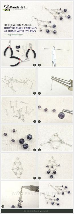 Jewelry Making Tutorial-How to Make Earrings at Home with Eyepins | PandaHall Beads Jewelry Blog