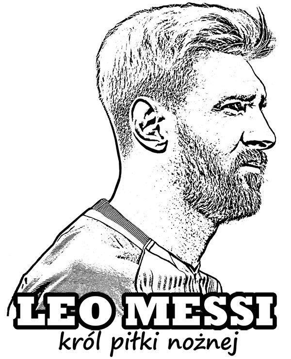 Messi FC Barcelona kolorowanka do druku malowanka kolorowanki