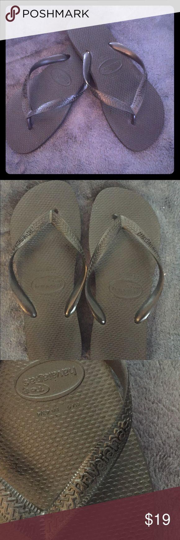 havaianas.com - Black Rubber Flip-Flops NWOT havaianas.com - Black Rubber Flip-Flops NWOT  Men's Size 9 Havaianas Shoes Sandals & Flip-Flops
