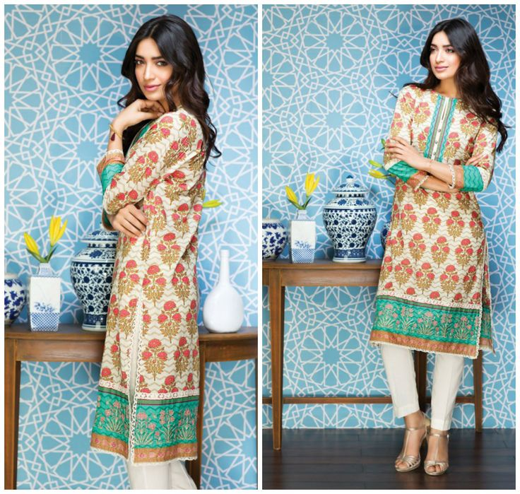 Khaadi Eid Lawn Collection Unstitched 2 Piece Suit I16302 B Beige. #LawnCollection #EidCollection2016