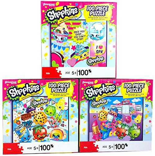 EXCLUSIVE Shopkins 100 Piece Puzzle 3 Pack Combo