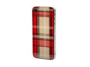 Προστατευτικό Αυτοκόλλητο για iPhone 4/4S (rot-beige gestreift)