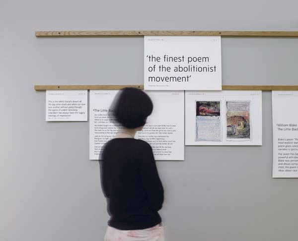 modernoffset: An exhibition display regarding a William Blake poem.