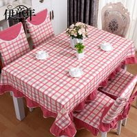 Home textile European rectangular round cotton table mat chair set cover sets manteles para mesa nappe Toalha wholesale