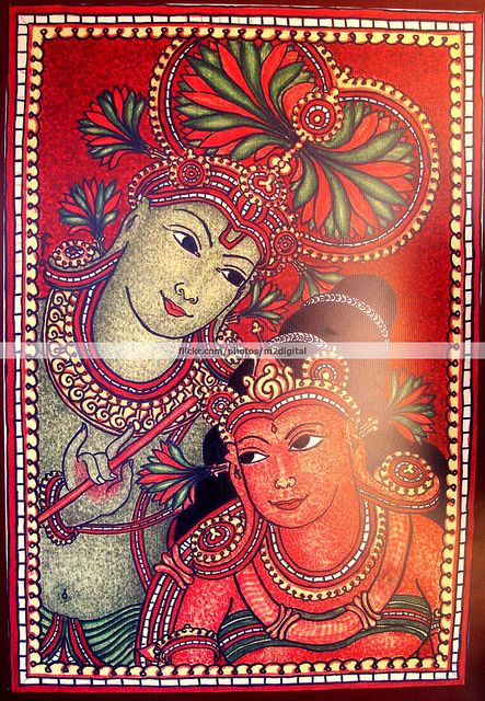64 best images about kerala murals on pinterest behance for Mural radha krishna