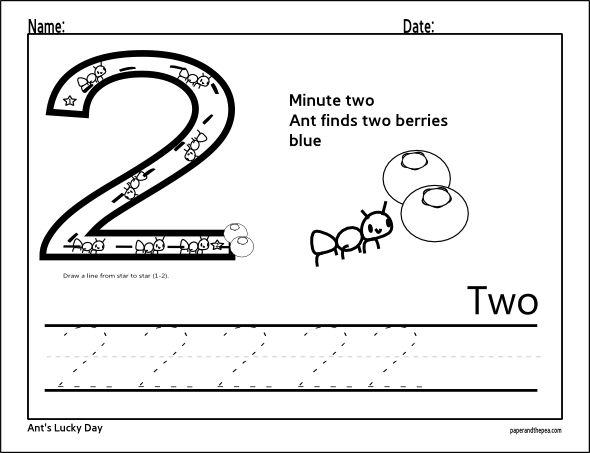 Download Number Two Tracing Worksheet