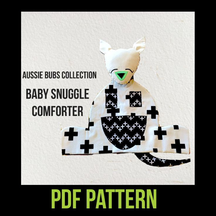 PATTERN PDF DOWNLOAD Baby snuggle comforter/security blanket by DeppaDesigns on Etsy