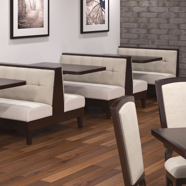 Shelby Williams M592 Booth Features Tapered Wood Legs