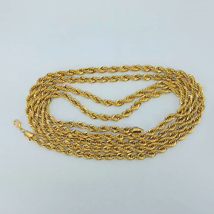 Length 200cm by 8mm,Long Gold Chain Necklaces for Men/Women,- Yellow Gold Plated Africa Thick Chain Ethiopian Jewelry #048706