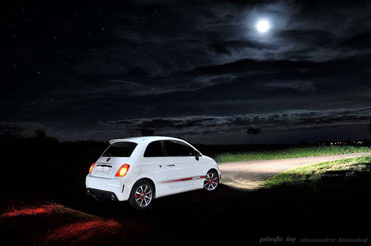 The Scorpion lights up the night #Abarth